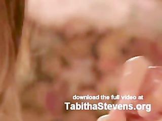 Tabitha Stevens swallows cock