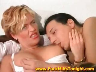Sexy Blonde Milf Is Cheating Her Husband With Two