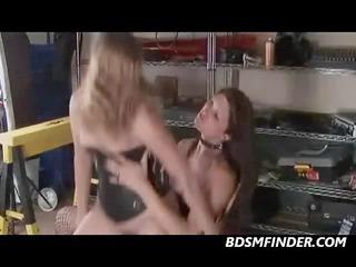 Femdom Lesbian Strap On