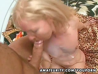 Amateur Milf fucked with huge facial cumshot