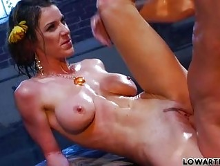 Skinny dark haired milf pornstar with big tits