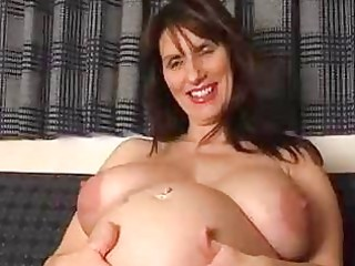 Pregnant amateur milf spreads her gaping pussy