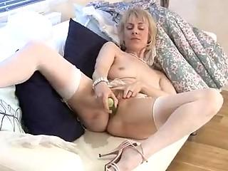 Hazel is a blonde granny who