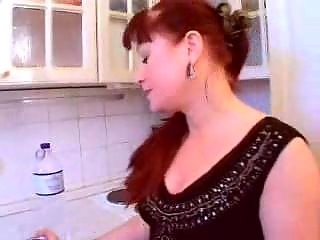 Mature Redhead Mom Fucks Young Dick Good