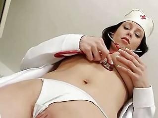 Busty uniform milf Sabrina big tits show off