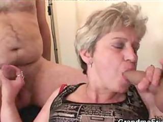 Granny Threesome Action mature mature porn granny