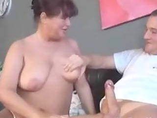 German Granny With Tatoo Sucks And Fucks mature