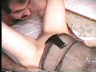 Very classy MILF babe gets banged in sexy black