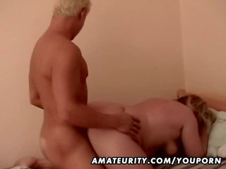 Fat amateur mature wife fucked by a young cock