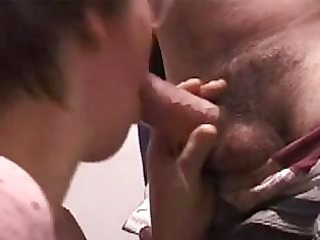Horny old mom with glasses gives and old guy some