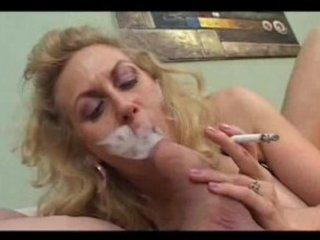 smoking mature sucks a thick coCK