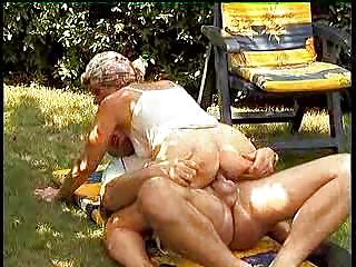Granny Sluts in Heat Have Outdoor XXX Fun