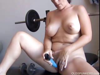 Big tits MILF is feeling horny