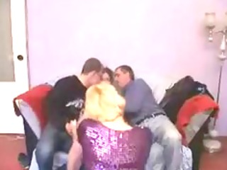 Mature Broad Gets Lucky In Group Bang