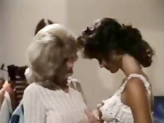 Vintage mature lesbian teaches young brunette