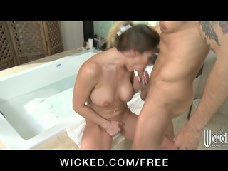 Horny big-tit wife Rachel Roxx is caught &