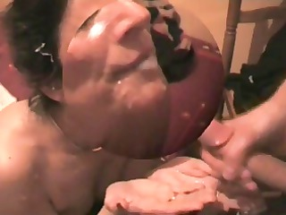 very hot french milf - amazing facial