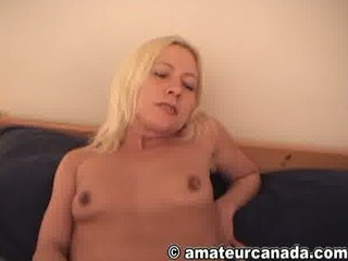 Ex-wifey blonde homemade solo masturbation fun