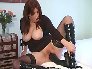 Milf and monster dildo