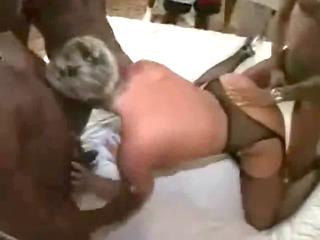 Mature White Slut Gangbanged