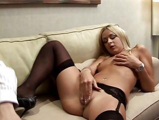 Blonde European chick wants mature cock