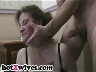 Slutty ex wife gets rough throat fuck