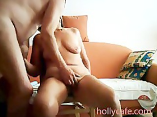 Mature wife is toyed by her hubby wife dildo