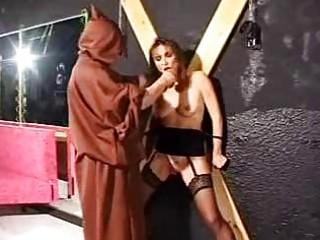 Bondage mature slave in torture