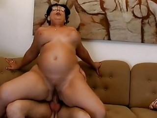 Big tits moma gets fucked hard