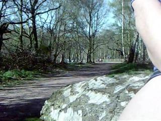 Pandora fucks her glass dildo in sherwood forest