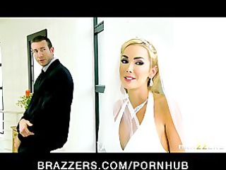 Sexy big-tit bride Devon rides a big-dick right