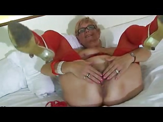 Granny Wears Red Lingerie