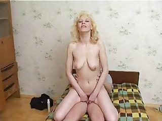 Russian Mum Enjoys young boys Cum !