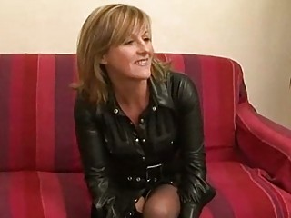 Amateur french milf in a rough threesome