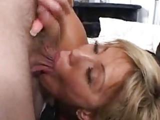 Crazy house wife gets a facial