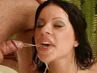 Grandpa fucking and pissing on young beauty