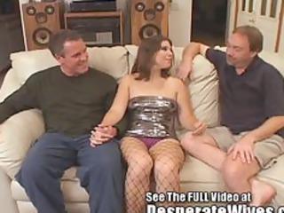 Dana Fulfills Her Slut Wife MFM Three Way Fantasy